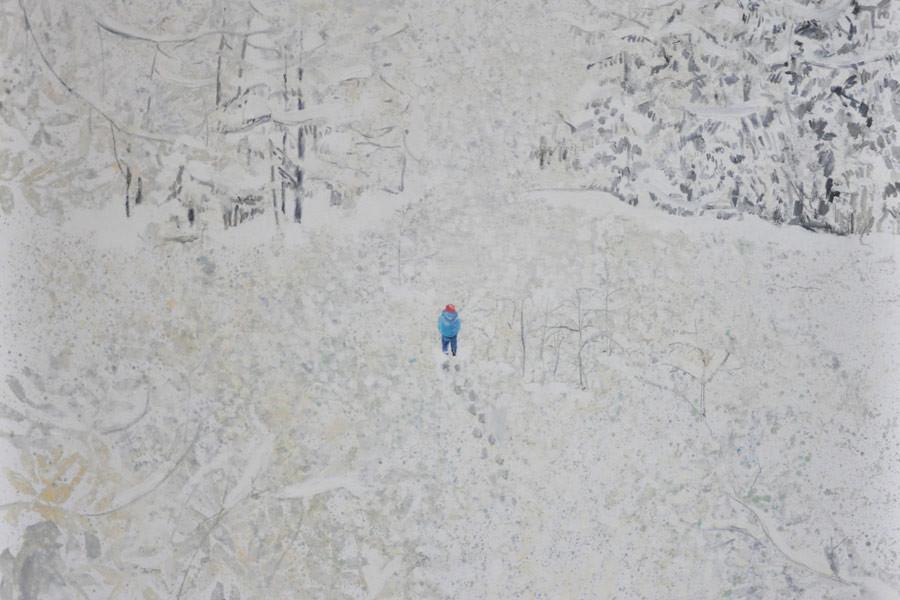 Evgenija Jarc, Sneg, 120x100, olje na platnu, 2015