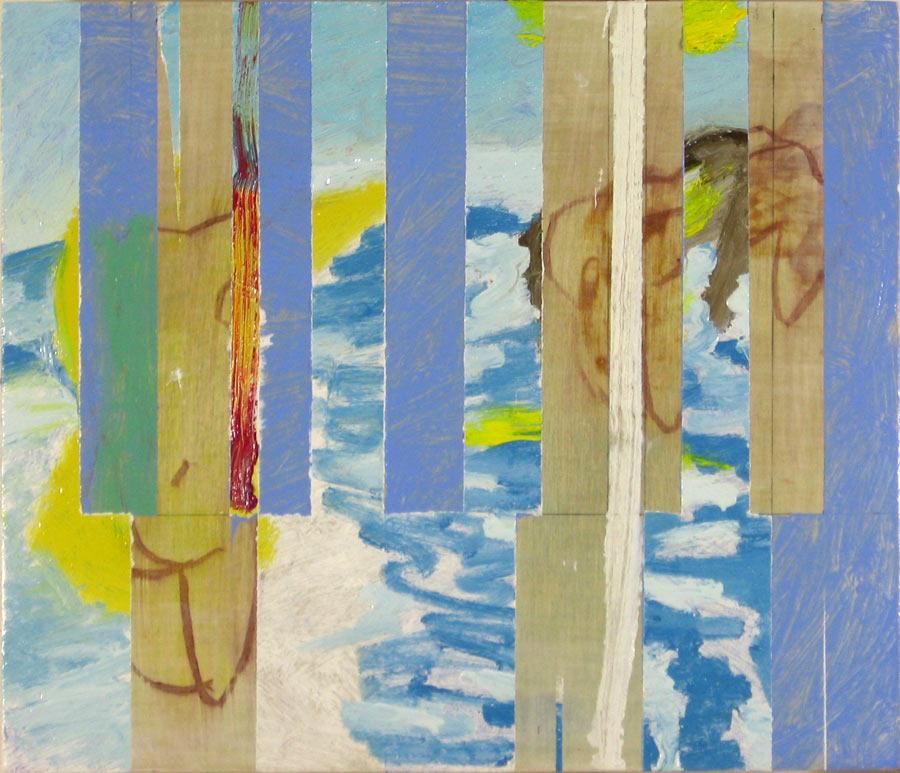 Simon Jugovic Fink, JB65I-II, 2015, olje na lesu, 36 x 42 cm