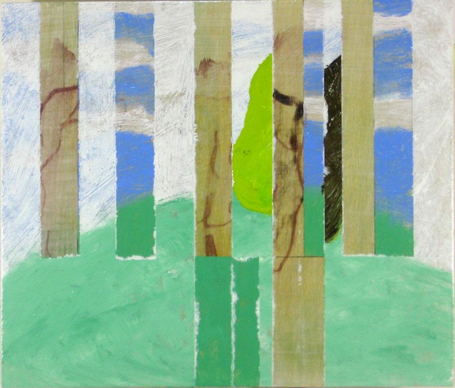 Simon Jugovic Fink, JB65VIII, 2015, olje na lesu, 36 x 42 cm