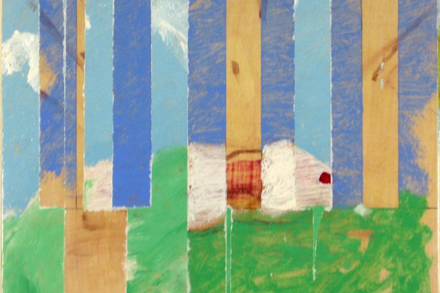 Simon Jugovic Fink, JB65XV, 2015, olje na lesu, 36 x 42 cm